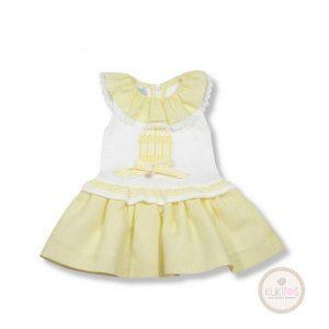 Vestido amarillo jaula