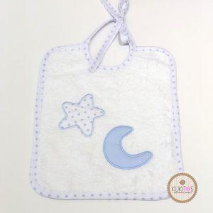 Babero estrella y luna