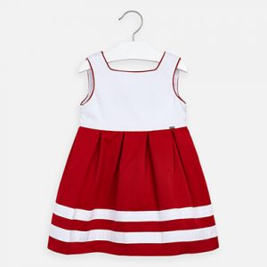 vestido rojo /blanco
