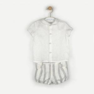 conjunto niño lino /short rayas